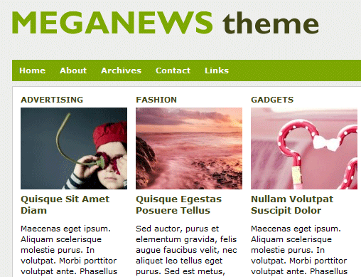 MEGANEWS - Free WordPress Theme
