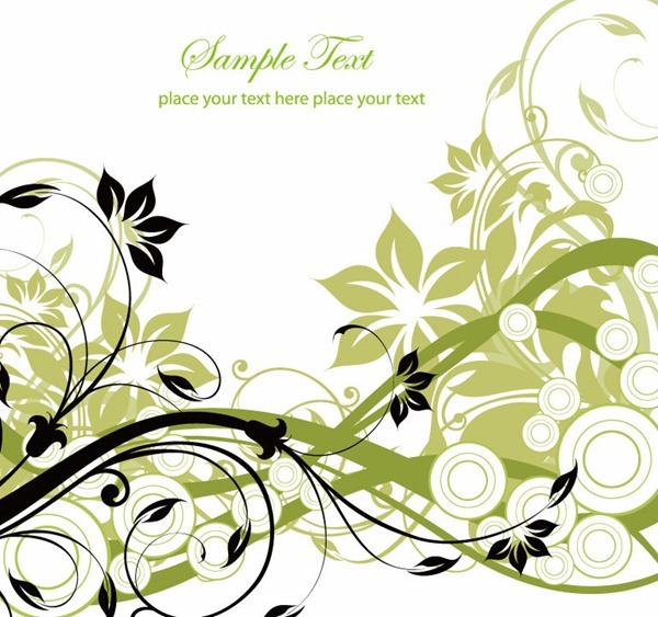 Floral-Greeting-Card-Vector-Illustration
