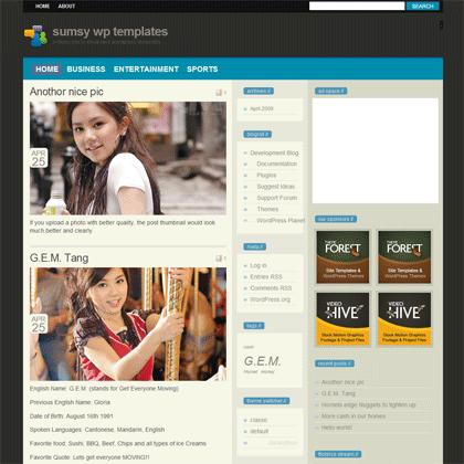 sumsyblue-free-wordpress-theme