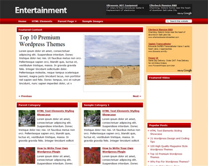 free-entertainment-wordpress-theme