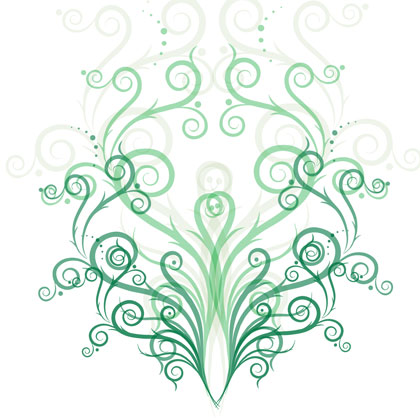 green-fashion-floral-vector