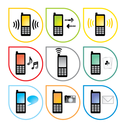 Name: Mobile Phone Style Vector Icon Homepage: Vector Graphics