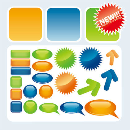 Web2.0 Button Vector