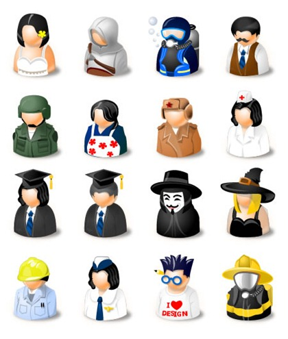 DressUp! Free Avatars Icon Set preview