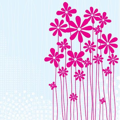 Free Flower meadow card Vector Graphic