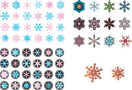 Free Vector Various Snowflake