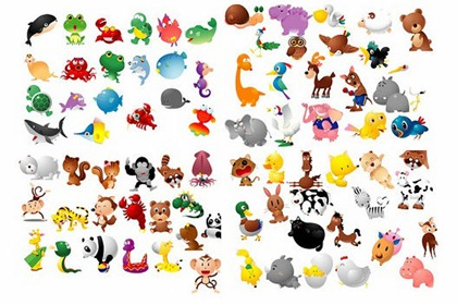 100 Free Cartoon-Style Animal Vectors