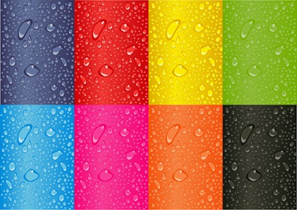 Colored Water Droplets Vector