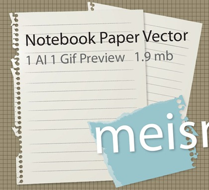 Free Notebook Paper Vector