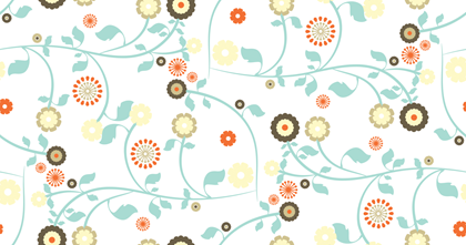 Free Seamless Vector Patterns - Gypsy Garden