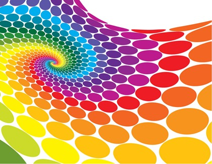 Techno dots background polka
