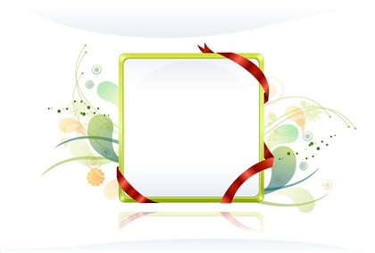 Free Vector Frames with Ribbon