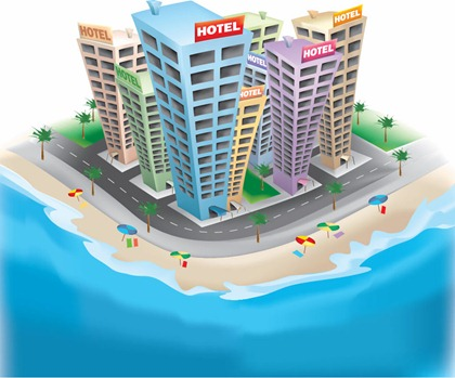 Free vector graphic 3d hotel free vector graphics for Hotel web design