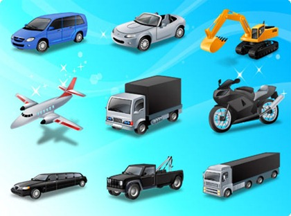 Free Vehicle and Transportation Vector Illustration