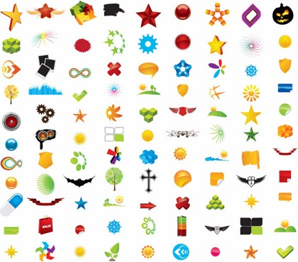 100 Vector Logo Design Elements