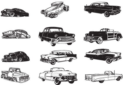 Photo Free Download on Free Various Vintage Car Vector Collection   Free Vector Graphics