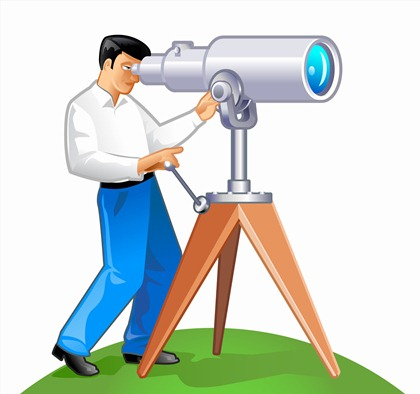 Free Vector Graphic - A man with his telescope