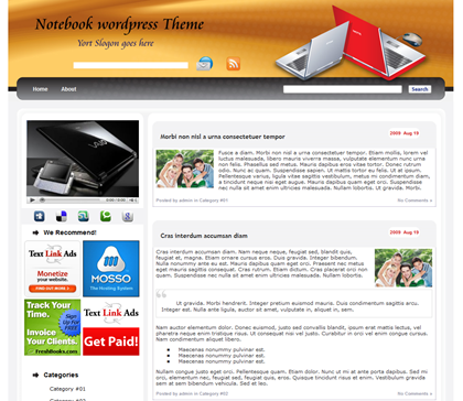 Free WordPress Theme - WP-Notebook