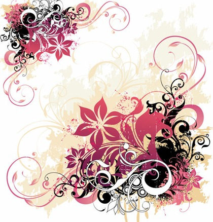 swirly roses background bouquet - photo #46