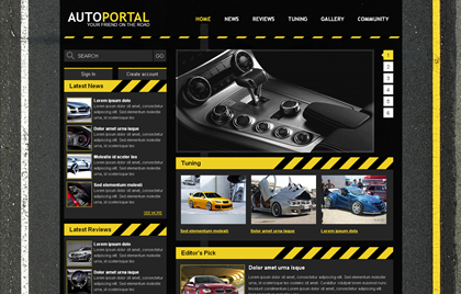 Free CSS Web Template - Auto Portal