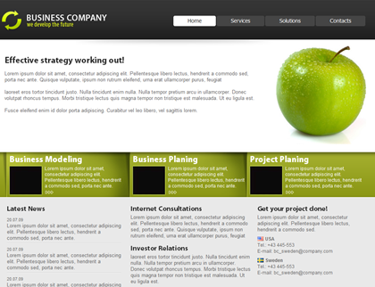 free css web template corporate 2
