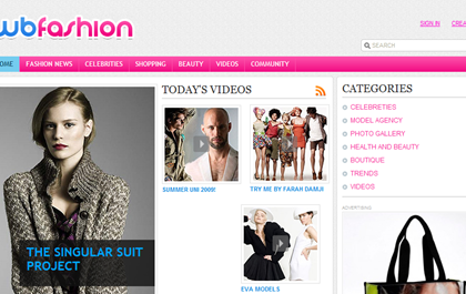 Free CSS Web Template - Fashion Portal
