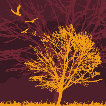 Free Tree and birds Vector Graphic