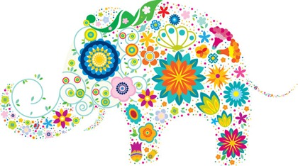Free Vector Colorful Elephant