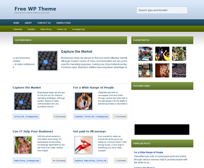 Free WordPress Theme - Esperanza