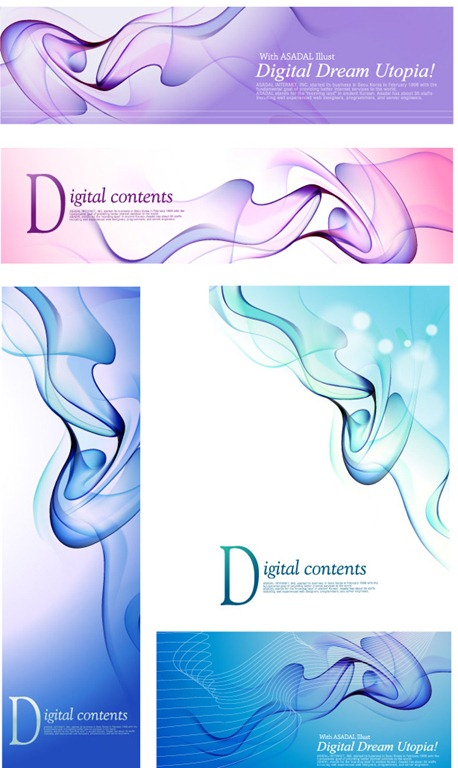 Blue dream smoke element vector