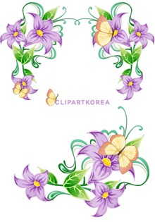 Flowers, fruit and butterfly lace Vector material (3)