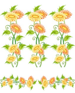 Flowers, fruit and butterfly lace Vector material (4)