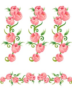Flowers, fruit and butterfly lace Vector material (5)