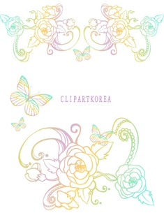 Multi-style lace flowers and butterfly Vector material (1)