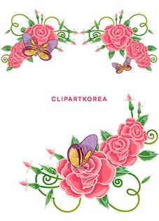 Multi-style lace flowers and butterfly Vector material (10)