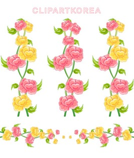 Multi-style lace flowers and butterfly Vector material (3)