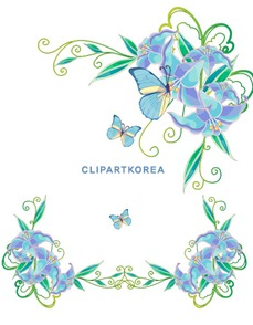 Multi-style lace flowers and butterfly Vector material (6)