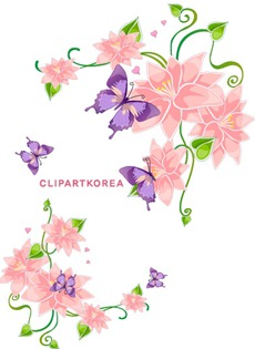Multi-style lace flowers and butterfly Vector material (9)