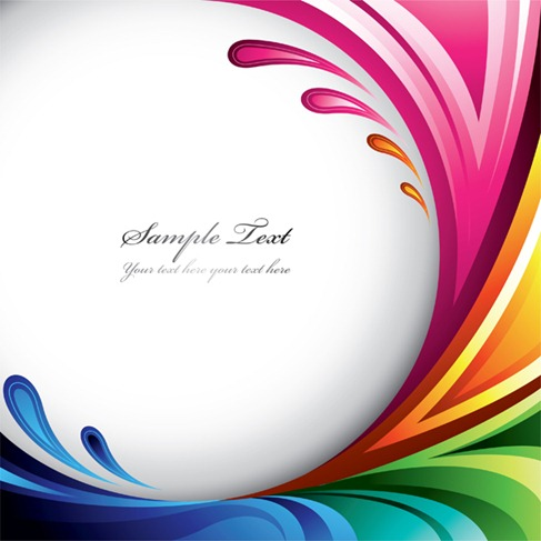 Symphony dynamic lines background vector graphics (1)