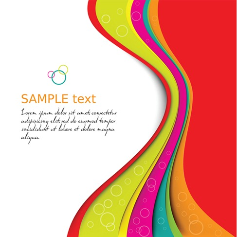 Symphony dynamic lines background vector graphics (2)