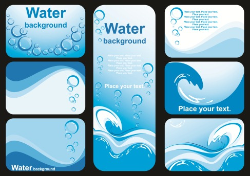Beautiful Water Vector Background Image