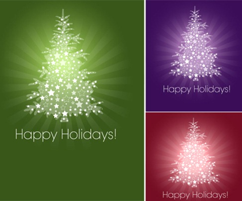 Christmas Tree Vector Graphic Pack (1)