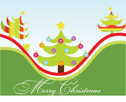 Christmas Tree Vector Graphic Pack (6)
