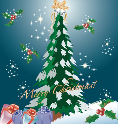 Christmas Tree Vector Graphic Pack (7)
