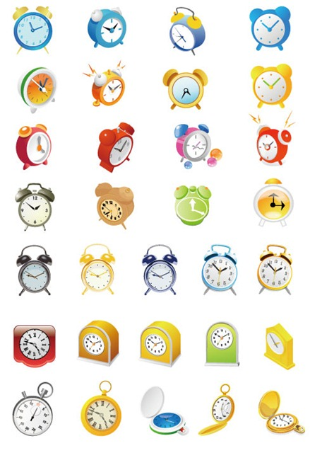 Cute-Alarm-Clock-Vector-Set