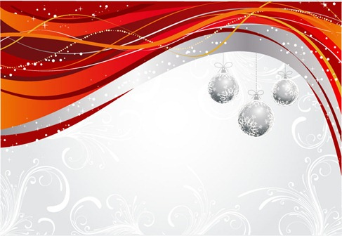 Dynamic Background Christmas Balls Hanging Pattern Vector Graphics