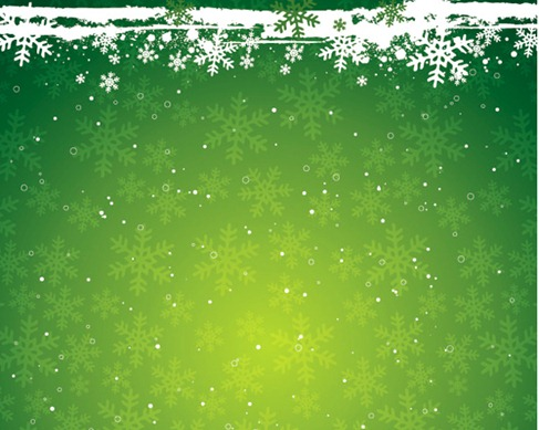 Green Snowflake the Christmas Theme Vector Background Material