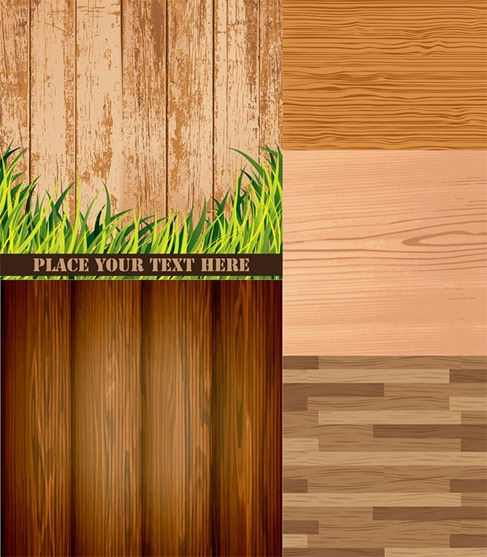 Wood grain background vector material Preview