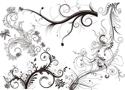 5 Floral Ornaments Vector Pack Preview