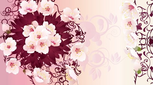 Free Rain Flowers Vector Graphic Preview